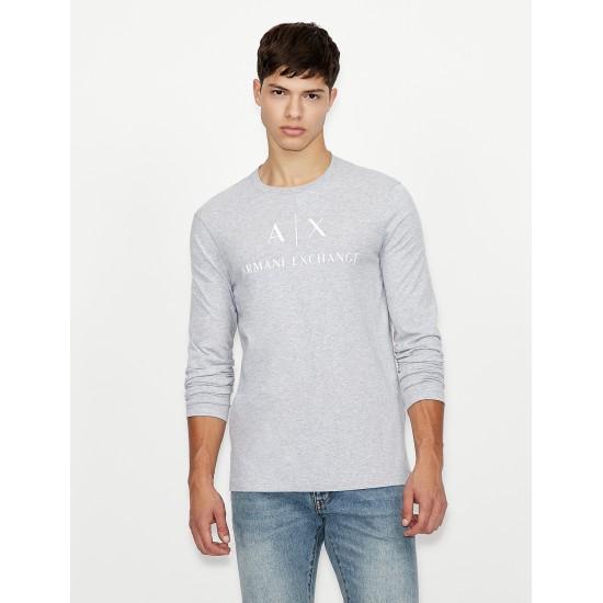 Armani Exchange Ανδρική Γκρι Μακρυμάνικη Μπλούζα