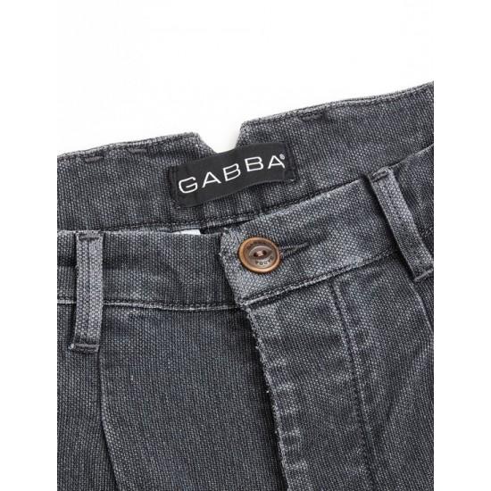 Gabba Ανδρικό Ανθρακί Παντελόνι Firenze