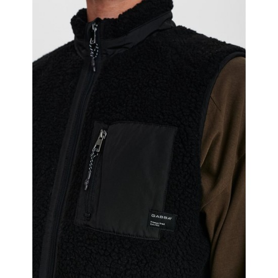 Gabba Ανδρικό Μαύρο Fleece Γιλέκο