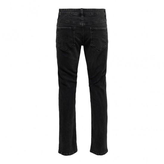 Only & Sons Ανδρικό Μαύρο Jean Weft