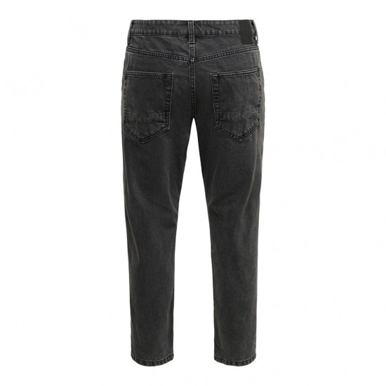 Only & Sons Ανδρικό Μαύρο Jean Cropped