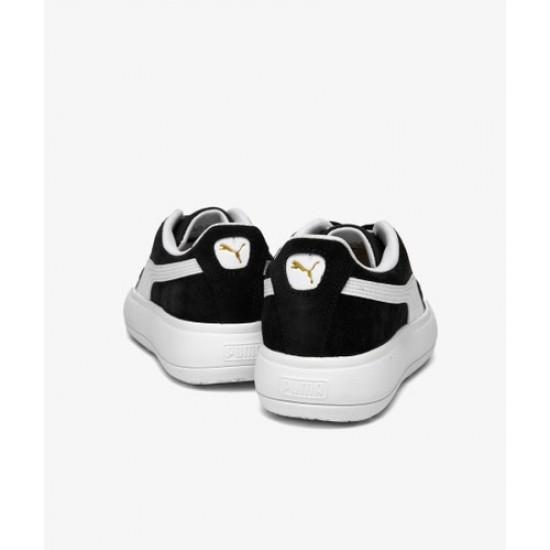 Puma Γυναικεία Δερμάτινα Μαύρα Sneakers Mayu