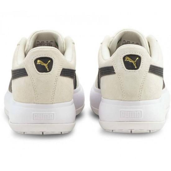Puma Γυναικεία Δερμάτινα Μπεζ Sneakers Mayu