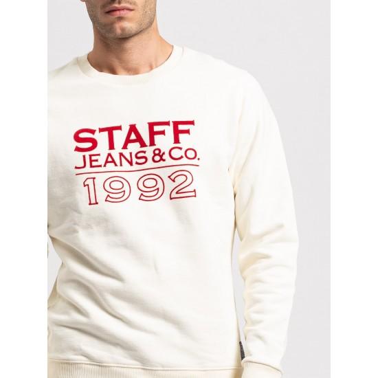 Staff Ανδρικό Φούτερ Μονόχρωμο
