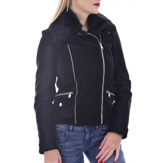 GUESS ΓΥΝΑΙΚΕΙΟ JACKET ECO LEATHER