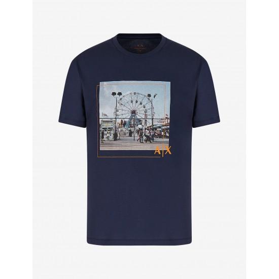 Armani Ανδρική Κοντομάνικη Μπλούζα Τύπωμα