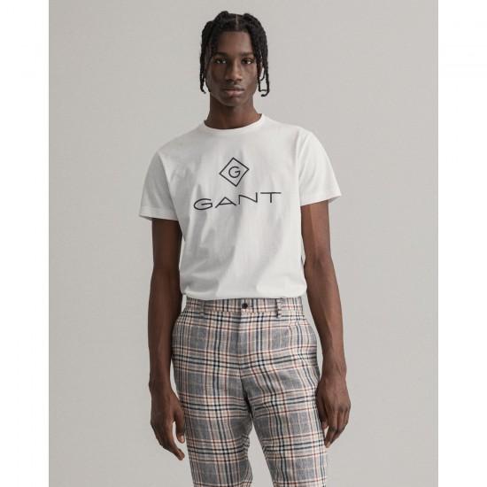 Gant Ανδρικό Κοντομάνικο Μπλουζάκι Τύπωμα