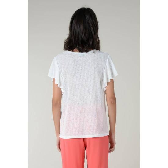 Molly Bracken Γυναικεία Λευκή Μπλούζα