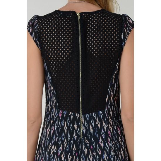 Molly Bracken Γυναικείο Κοντό Εμπριμέ Φόρεμα