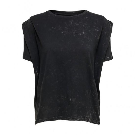 Only Γυναικείο Μαύρο T-Shirt Riva Washed