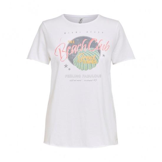 Only Γυναικείο T-Shirt με Στάμπα