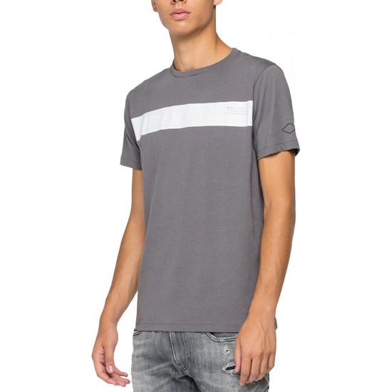 Replay Ανδρική Κοντομάνικη Μπλούζα με Logo