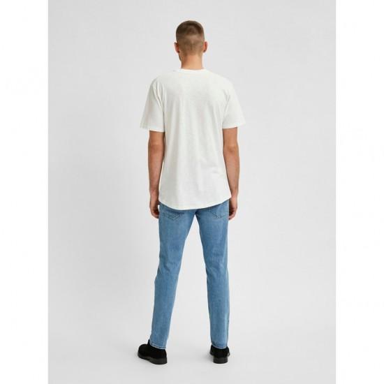 Selected Ανδρικό Μονόχρωμο T-Shirt Τσέπη