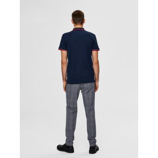 Selected Ανδρική Κοντομάνικη Πόλο Μπλούζα