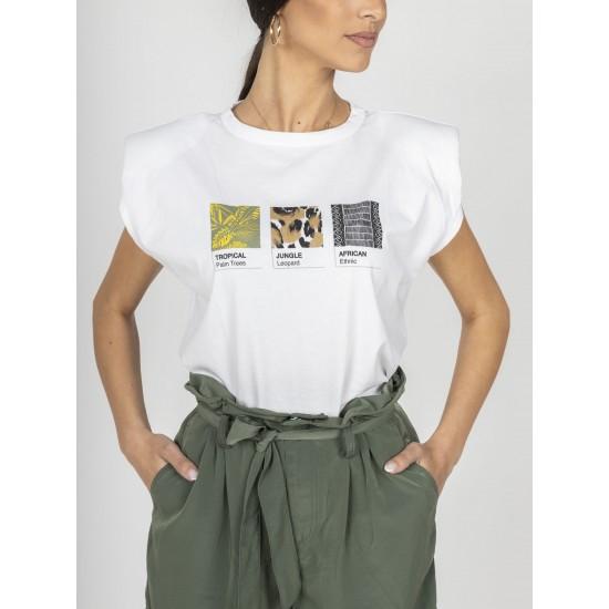 Staff Γυναικεία Αμάνικη Μπλούζα