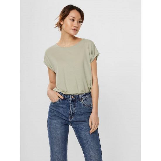 Vero Moda Γυναικεία Χακί Κοντομάνικη Μπλούζα