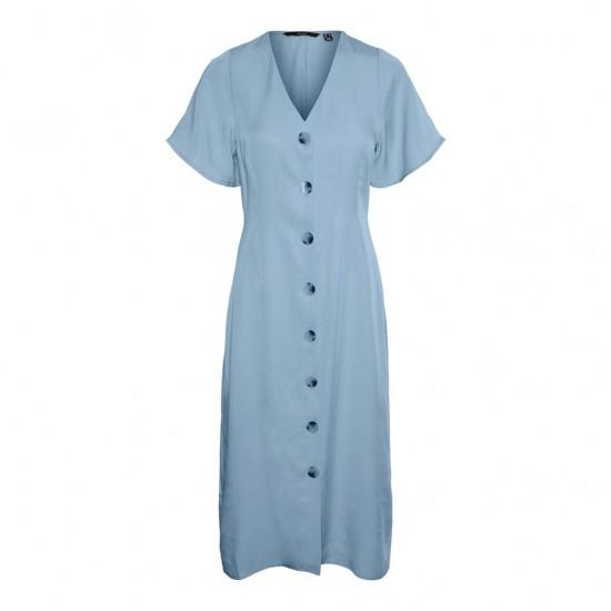 Vero Moda Γυναικείο Denim Midi Φόρεμα