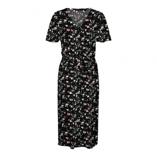 Vero Moda Γυναικείο Φλοράλ Φόρεμα Πουκάμισο