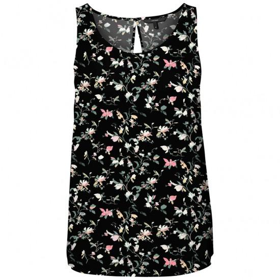 Vero Moda Γυναικεία Αμάνικη Μπλούζα Φλοράλ